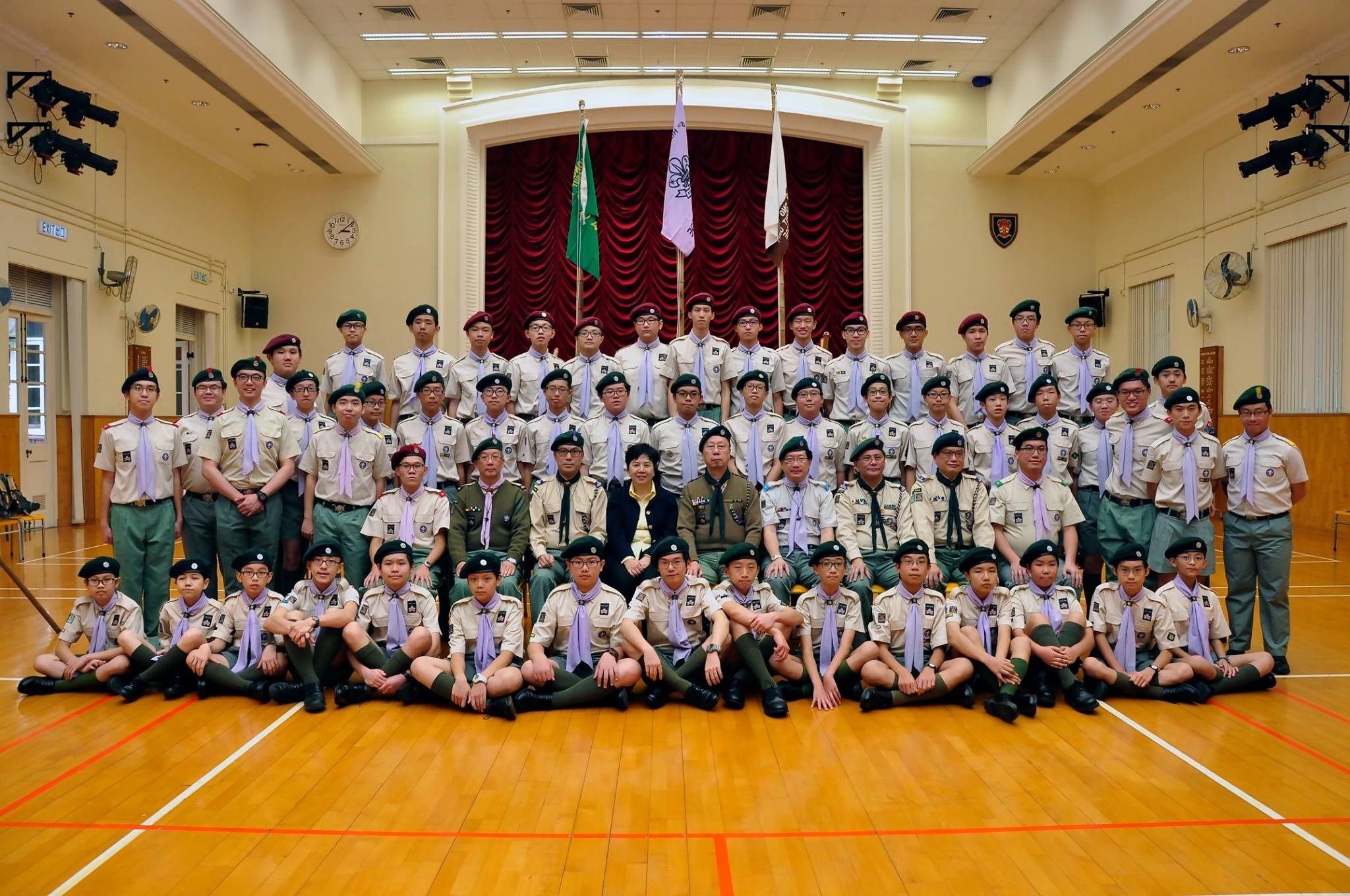 2016年1月16日童軍宣誓日,前香港總監許招賢先生獲邀為主禮嘉賓。
