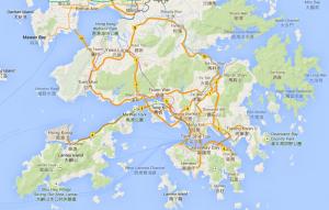 Hong Kong map screenshot